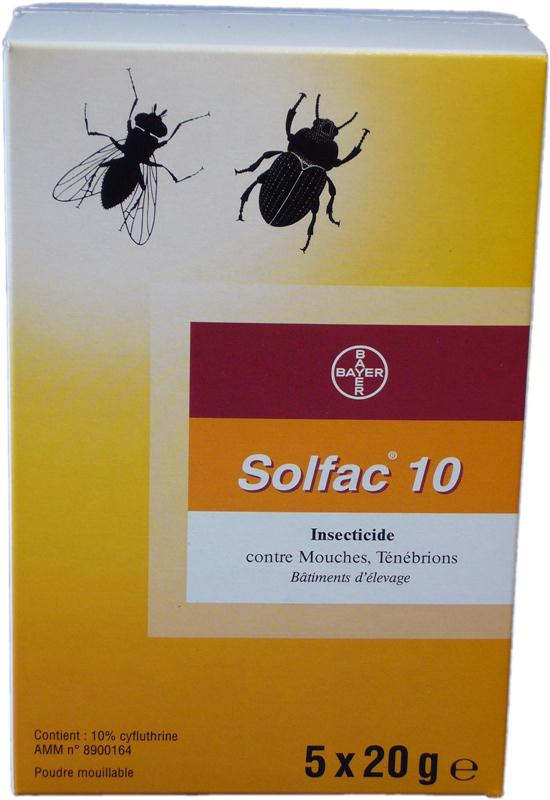 solfac wp 10 poudre insecticide concentr contre insectes rampants et volants insecticides. Black Bedroom Furniture Sets. Home Design Ideas
