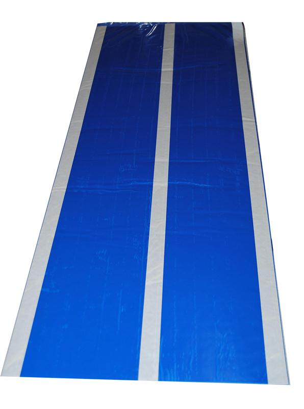 tapis feuilles pelables pour salle blanche anti poussi re impuret s particules bleu hyprodis. Black Bedroom Furniture Sets. Home Design Ideas
