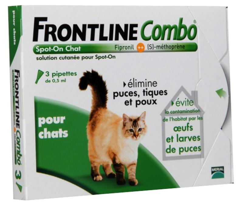 frontline combo chat anti puces et anti tiques hyprodis. Black Bedroom Furniture Sets. Home Design Ideas