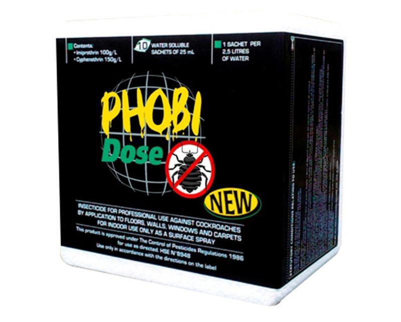 phobi dose contre les punaises de lit bo te de 10 sachets de 25 ml hyprodis. Black Bedroom Furniture Sets. Home Design Ideas