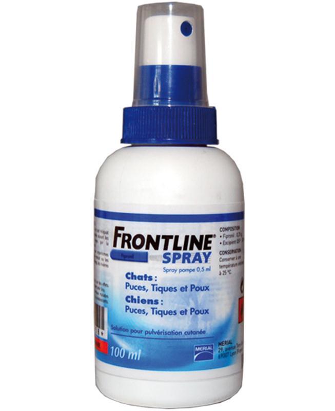 frontline spray lutte contre les parasites du chien et du chat puces tiques et poux. Black Bedroom Furniture Sets. Home Design Ideas