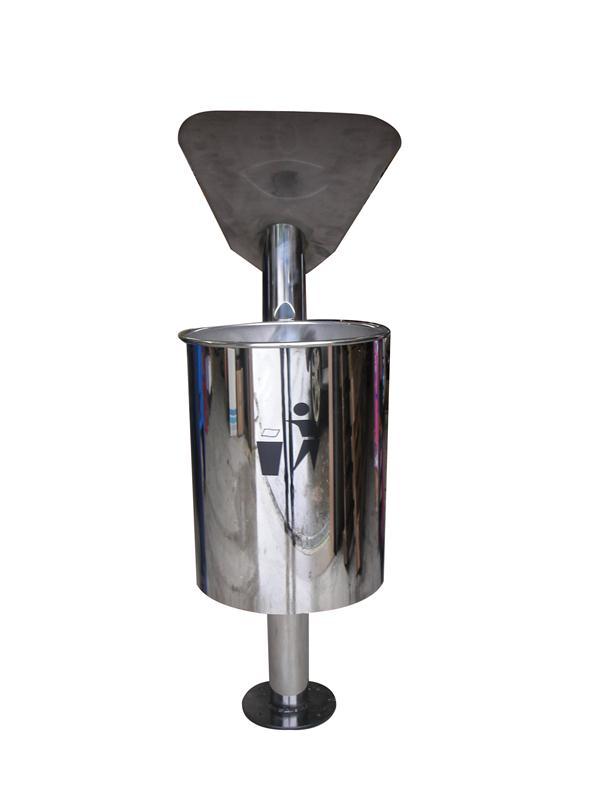 corbeille poubelle ext rieur 30 litres sirio inox avec fixation au sol hyprodis. Black Bedroom Furniture Sets. Home Design Ideas