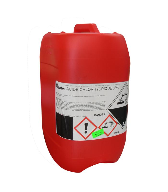Acide chlorhydrique for Acide muriatique piscine