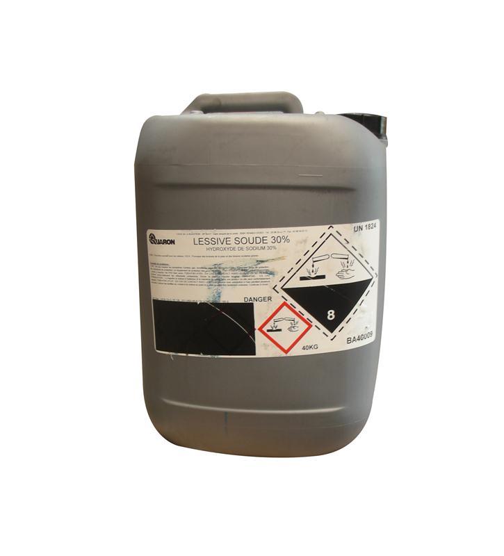 lessive de soude 30 en 896 hydroxyde de sodium liquide bidon de 30 litres hyprodis. Black Bedroom Furniture Sets. Home Design Ideas
