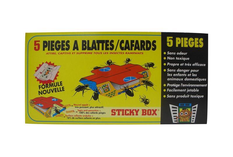 Pi ge de glue contre blattes et cafards sticky box digrain lot de 5 hyprodis - Piege a puce ...