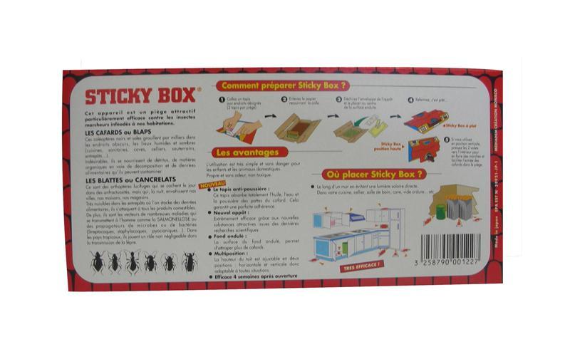 pi ge de glue blattes cafards sticky box digrain lot de 5. Black Bedroom Furniture Sets. Home Design Ideas