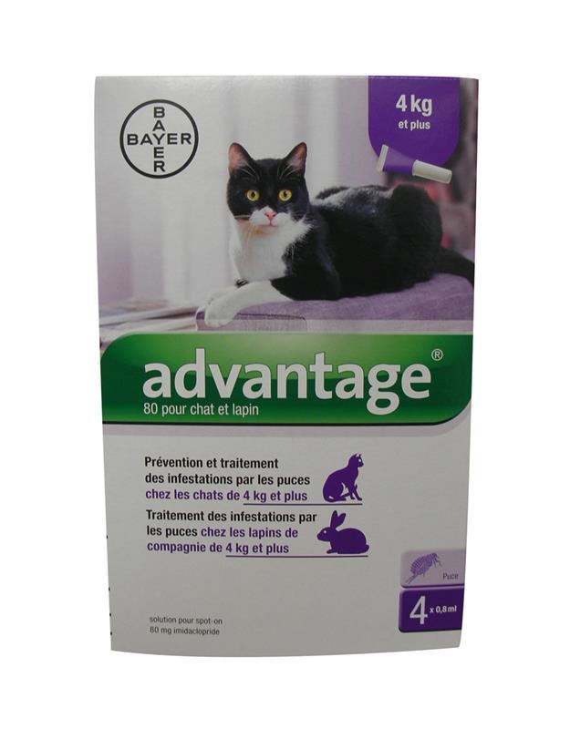pipette advantage 80 contre puces et tiques pendant 4 semaines antiparasitaire chat bayer. Black Bedroom Furniture Sets. Home Design Ideas