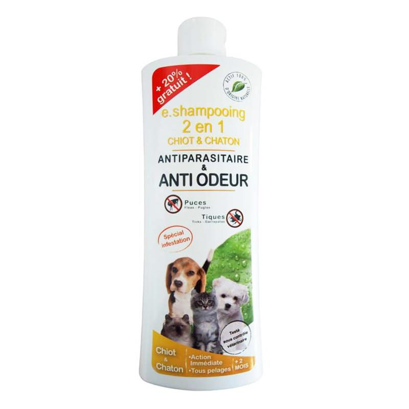 shampooing anti odeur et antiparasitaire pour chiot et chaton hyprodis. Black Bedroom Furniture Sets. Home Design Ideas