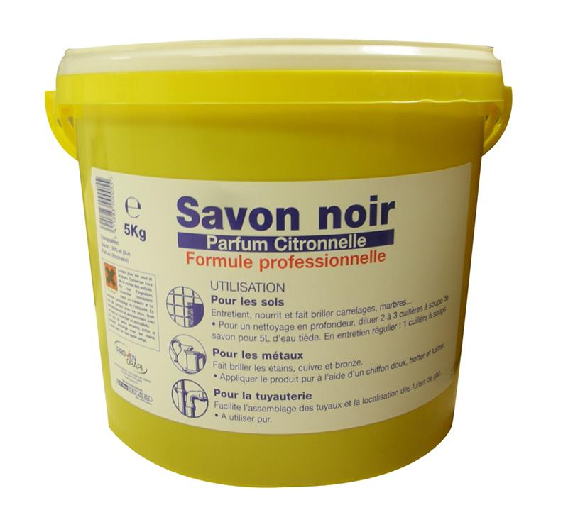 savon noir en p te pour la lessive les sols parfum citronnelle seau de 5 kg hyprodis. Black Bedroom Furniture Sets. Home Design Ideas