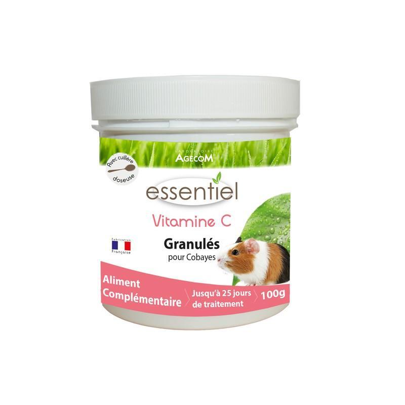Vitamine c rongeur granulés pour cobayes boîte de 100 gr