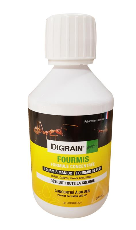 digrain fourmis blattes cafards punaises puces 40gr l cypermethrine 250 ml. Black Bedroom Furniture Sets. Home Design Ideas