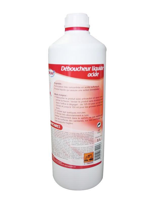 Déboucheur canalisation et siphons liquide acide sulfurique ORLAV cb2c469d5819