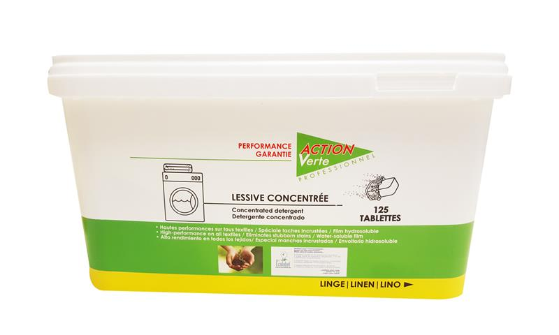 pastille lessive lave linge cologique concentr e ecolabel action verte hyprodis. Black Bedroom Furniture Sets. Home Design Ideas