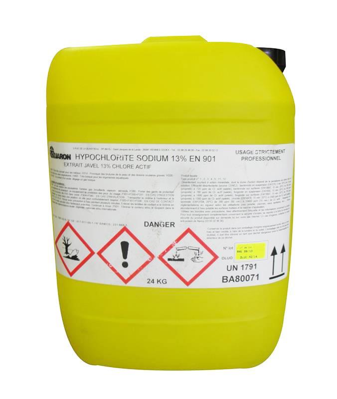hypochlorite de sodium 13 javel en 901 bidon de 24 kg