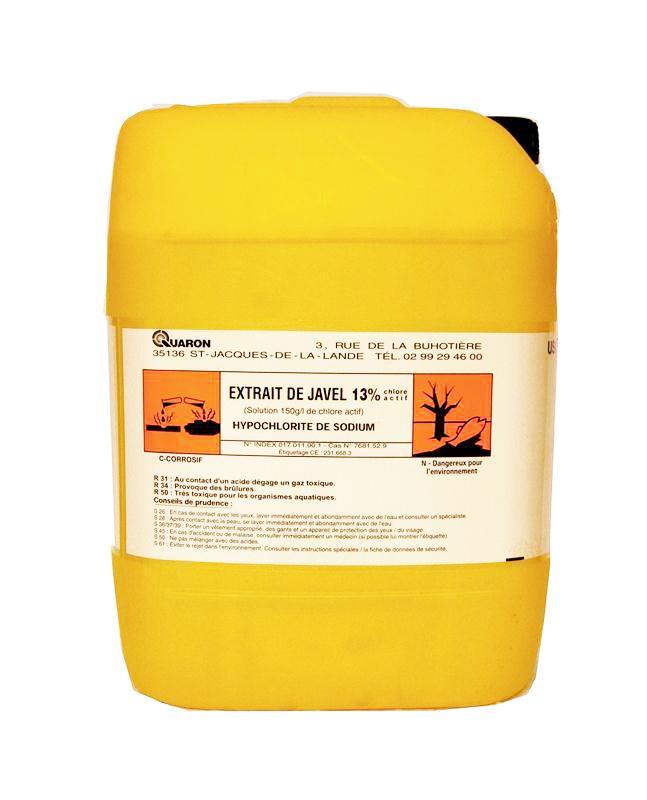 Extrait de javel 13 de chlore actif anciennement 48 en901 bidon de 24 kg hyprodis - Extrait de javel ...