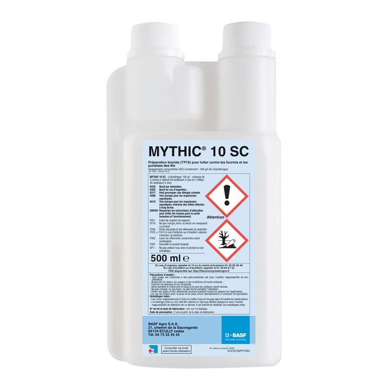mythic 10 sc insecticide contre punaises de lit et fourmis flacon 500 ml hyprodis. Black Bedroom Furniture Sets. Home Design Ideas