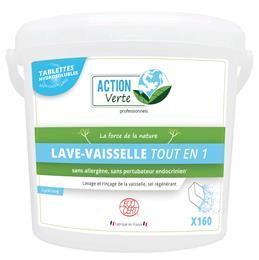 Action verte tablettes lave vaisselle tout en un cycle long ecocert