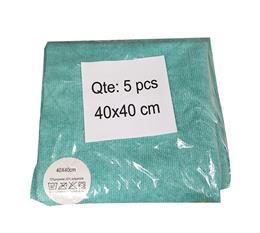 Microfibres toutes surfaces verte x5