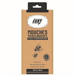 Fury sticker adhésif anti mouches x4