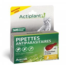ACTI Pipettes antiparasitaire chat