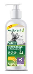 Actiplant Shampooing antiparasitaire chien chat vanille