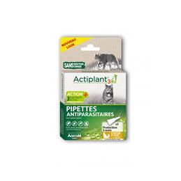 Actiplant´3 pipettes antiparasitaires chat
