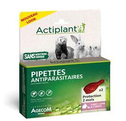 Actiplant´ Pipettes antiparasitaire furet lapin cobaye NAC