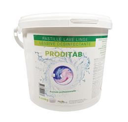 Pastille lave linge lessive désinfectante PRODITAB