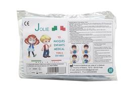 Masques enfants medical type II EN14683 CE lot de 10