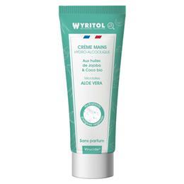 Crème mains hydroalcoolique sans parfum Wyritol 75 ml
