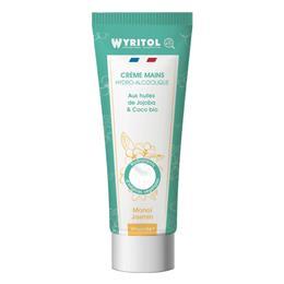 Crème mains hydroalcoolique monoï jasmin Wyritol 75 ml