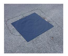 Plaque d'obturation usage unique carré
