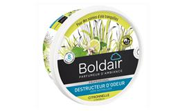 Gel destructeur d´odeur BOLDAIR citronnelle 70 m3  300 gr
