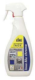 Nettoyant inox alu chrome contact alimentaire spray 750 ml King
