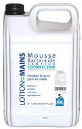 Lotion mains mousse bactéricide coton fleuri KING