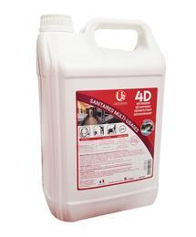 4D Détergent Détartrant Désinfectant Désodorisant 5L