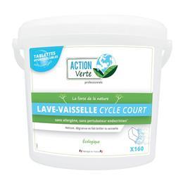 Action verte tablettes lave-vaisselle cycle court