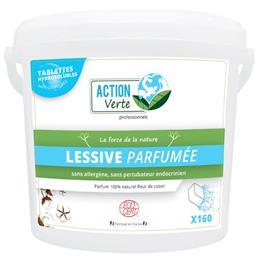 Action verte tablettes lessive parfumée linge ecocert